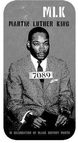"Martin Luther King ""Booked"" D-5"