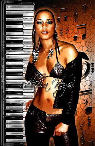"Alicia Keys ""Key Board""  D-6"