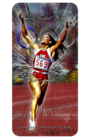 "Florenc Griffith-Joyner "" Fastest Women In The World"" D-3"