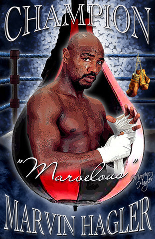 "Marvin Hagler ""Champion""  D-2 (Print)"
