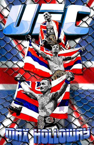 "Max Holloway ""Collage"" D-2"