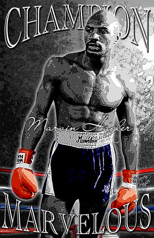 "Marvin Hagler ""Marvelous""  D-3 (Print)"