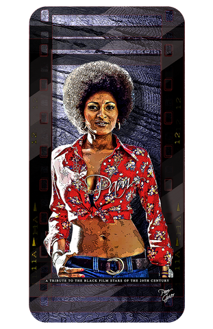 "Pam Grier ""Tribute To Black Film Stars"" D-8 (Print)"