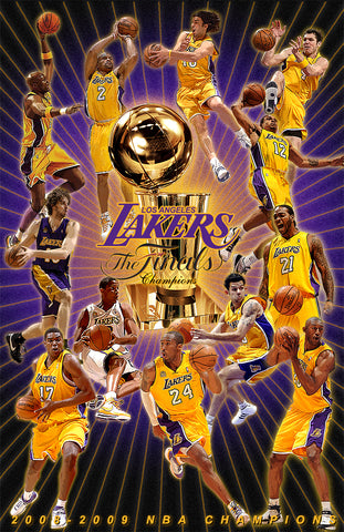 "Los Angeles Lakers ""09' Champion Poster ""  D-7 (Print)"