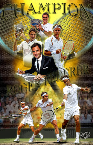 "Rodger Federer ""Tribute""  D-1"