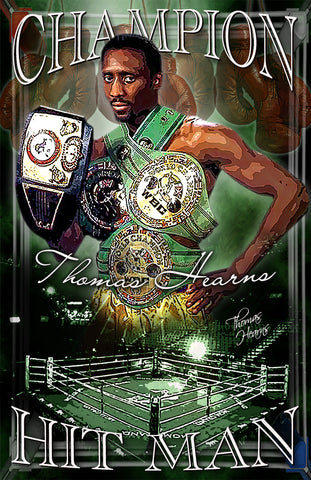 "Thomas Hearns ""Champion"" D-3 (Print)"