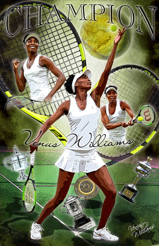 "Venus Williams  ""Champion"" D-9"