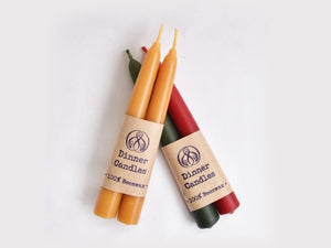 100% Beeswax Dinner Candles Short/Long