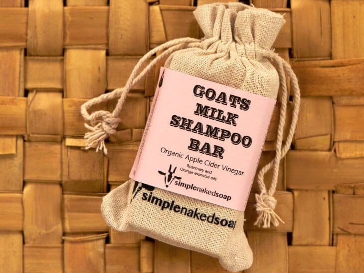 Simply Naked Soap - Goats Milk Shampoo Bar Apple Cider