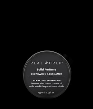 Real World Solid Perfume - Cedarwood & Bergamot
