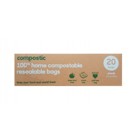 Compostic 100% Home Compostable  Sandwich & Snack Bags