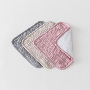 Over The Dandelions Organic Muslin Washcloths 3pk - Rosy