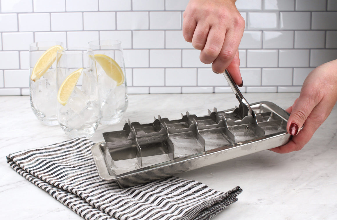 Stainless Steel Vintage Ice Cube Tray