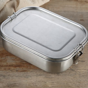 Stainless Steel Lunchbox (2 Compartments)