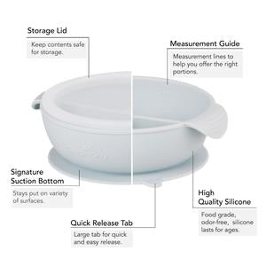 Avanchy Silicone Suction Divided Baby Bowl & Lid