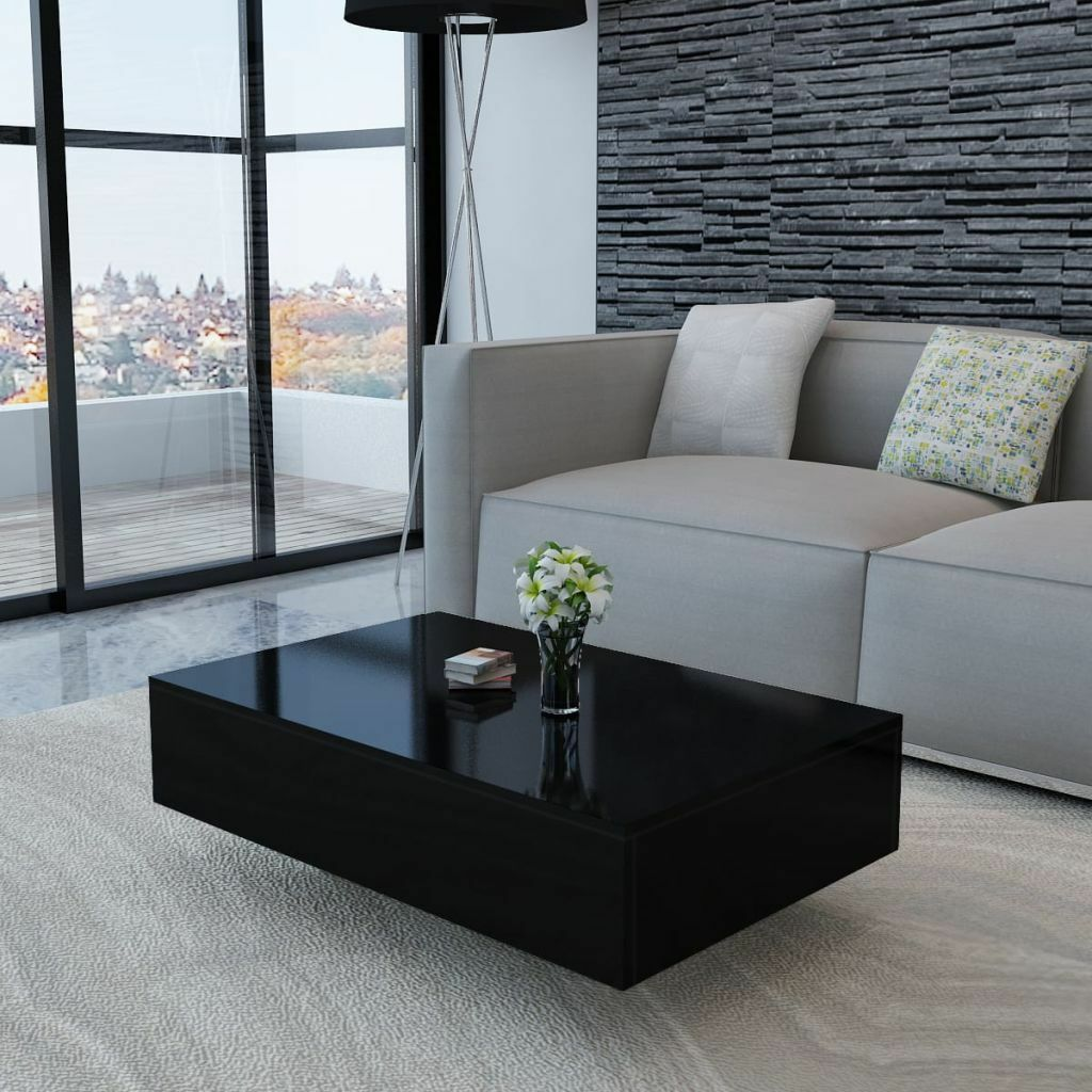 Rectangular Accent High Gloss Coffee Table