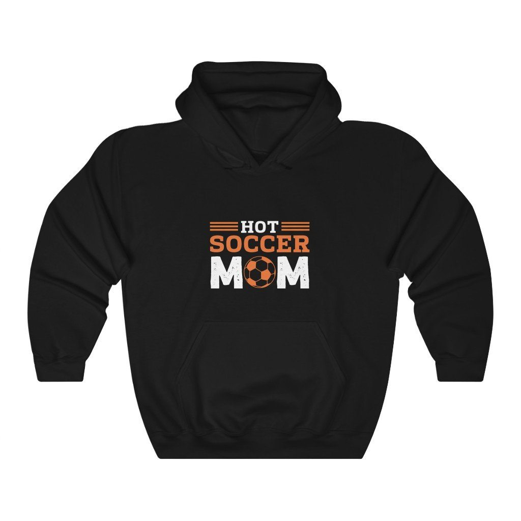 Hot Soccer Mom Hooded Sweatshirt Hoodie Printify Black S