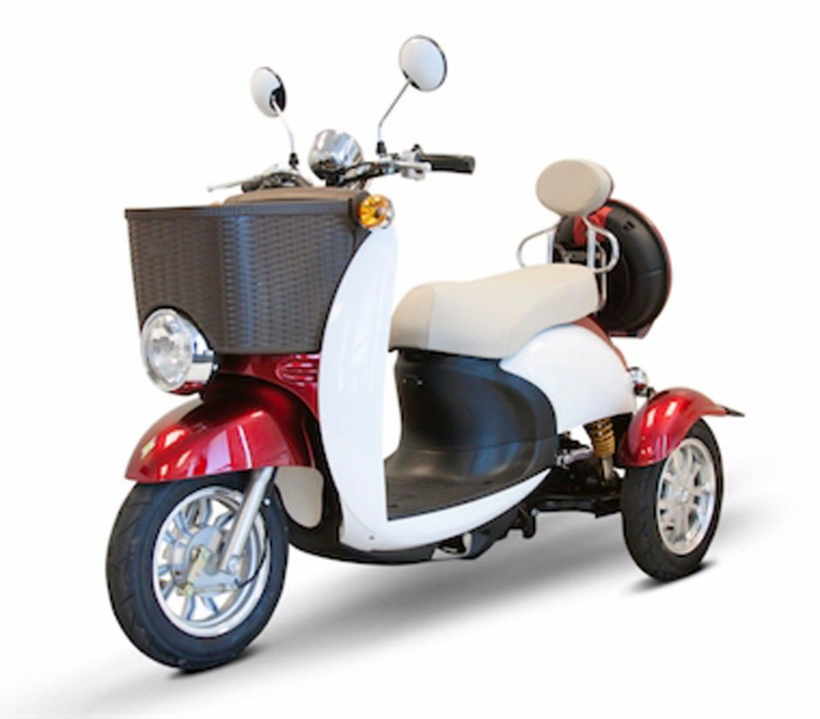 2 Seater Red & White Sport Electric 3 Wheels Scooter