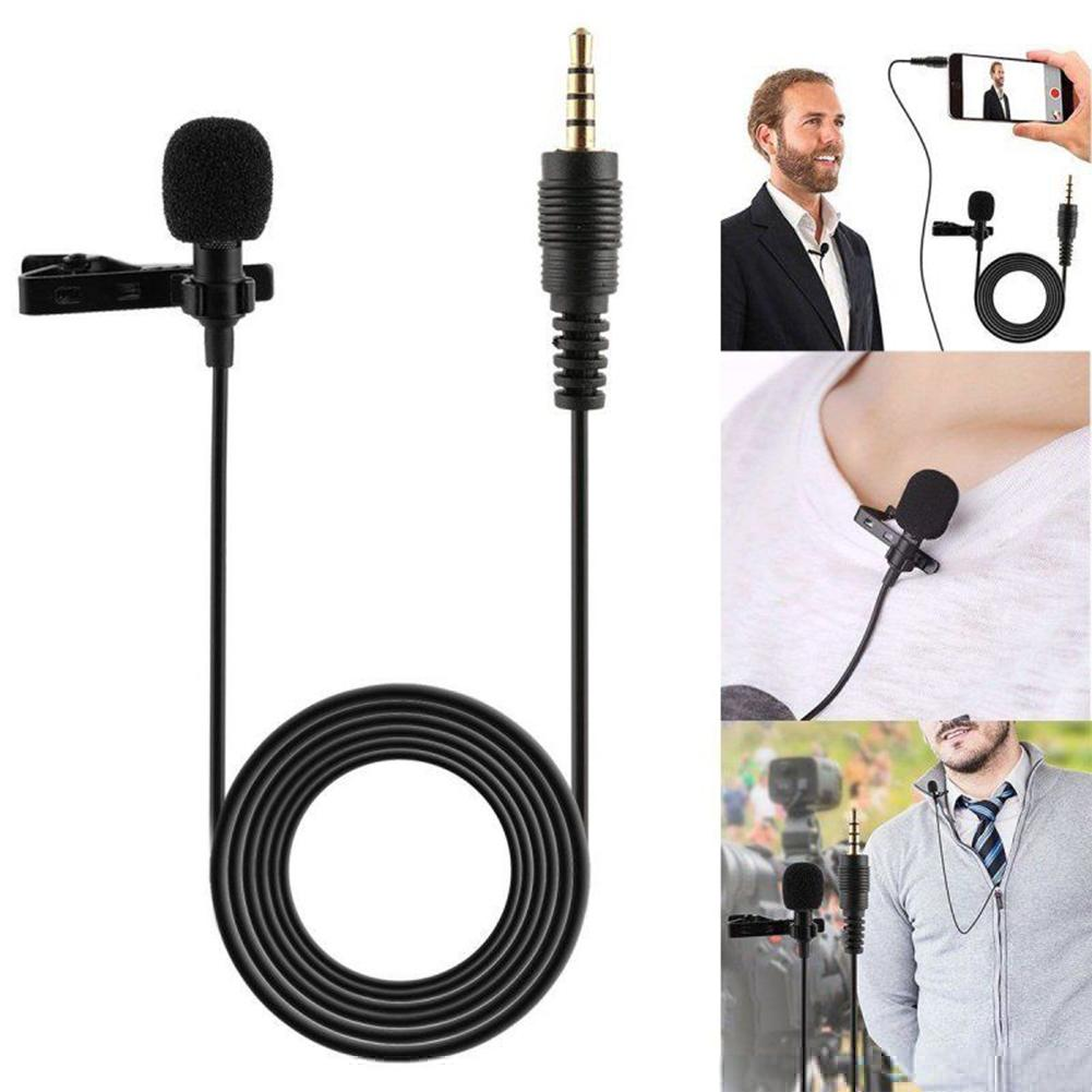 3.5mm Clip-on Lapel Microphone Hands-Free Headphones Urban Pronto White