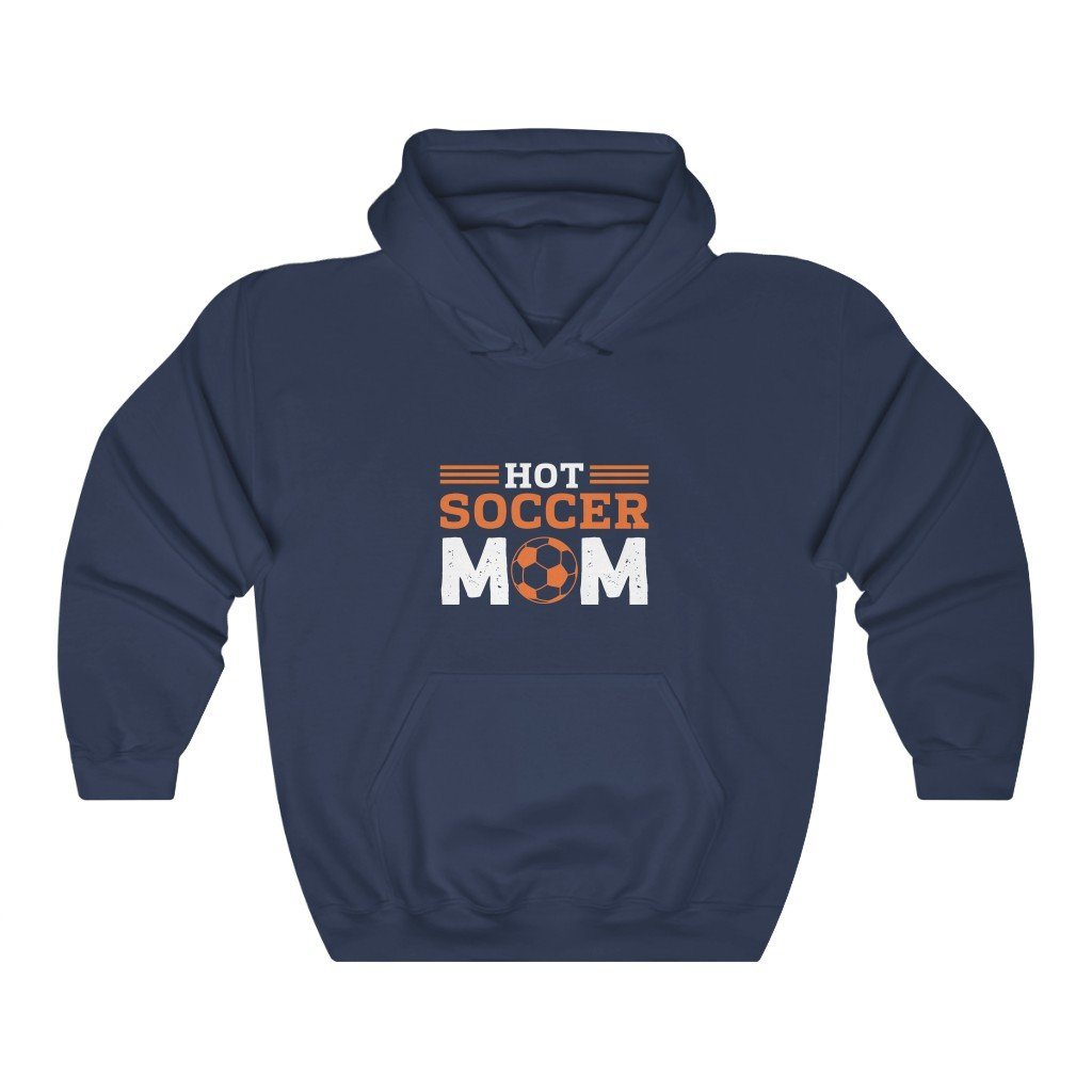 Hot Soccer Mom Hooded Sweatshirt Hoodie Printify Navy S