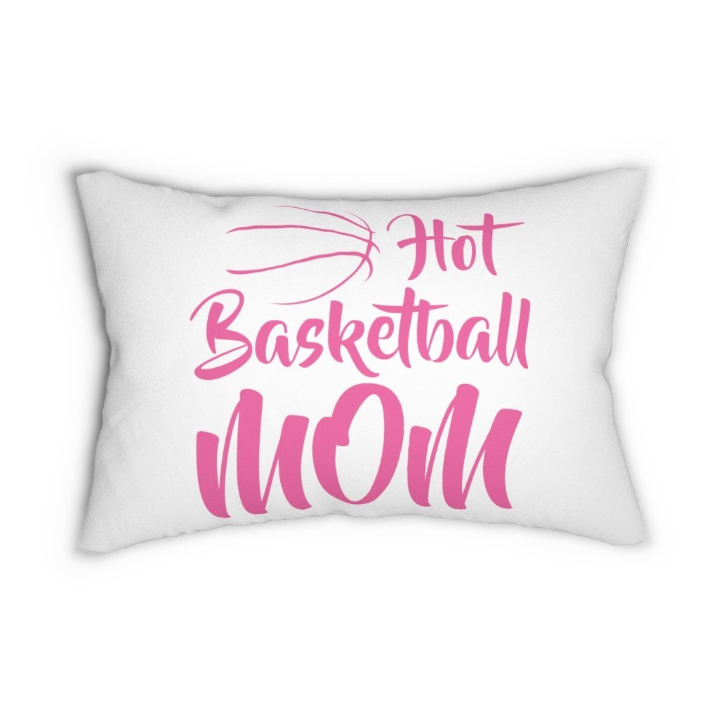 Hot Basketball Mom Spun Polyester Lumbar Pillow
