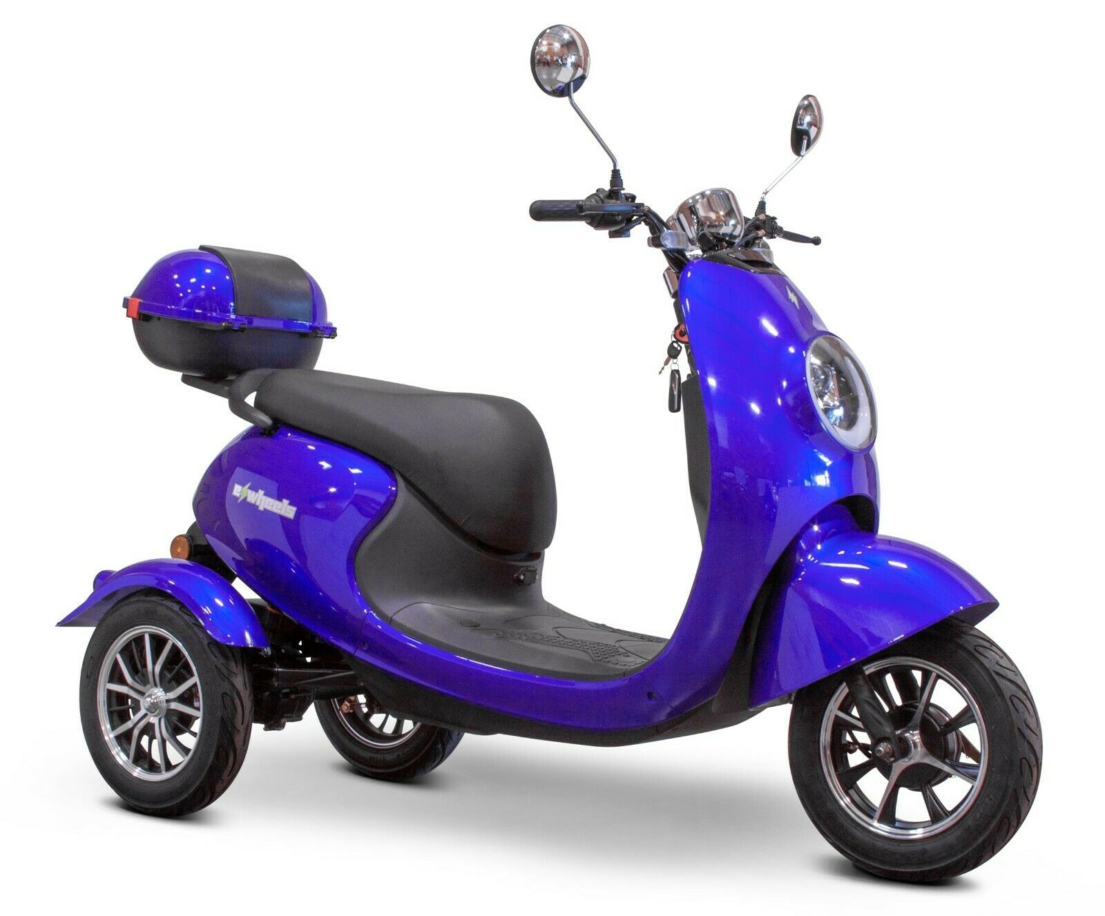 Blue 3 Wheel Electric Scooter bike