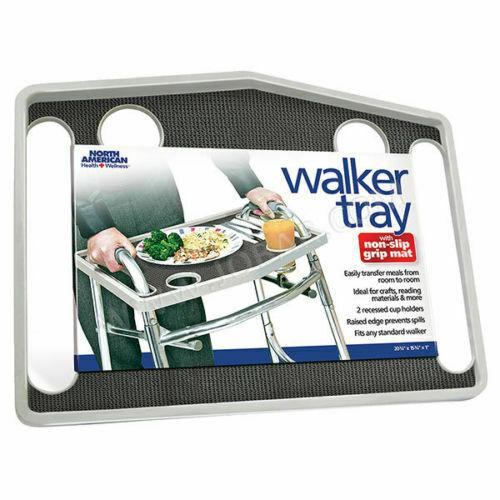 Universal Walker Tray Table with Non-Slip Grip Mat freshnewlooks