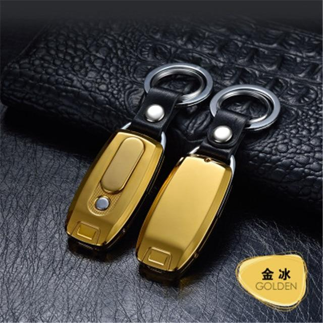 Rechargeable USB Keychain Lighter Urban Pronto Gold