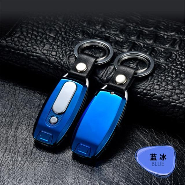 Rechargeable USB Keychain Lighter Urban Pronto Blue