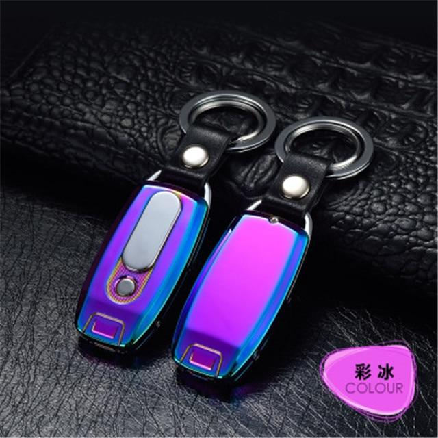 Rechargeable USB Keychain Lighter Urban Pronto Purple