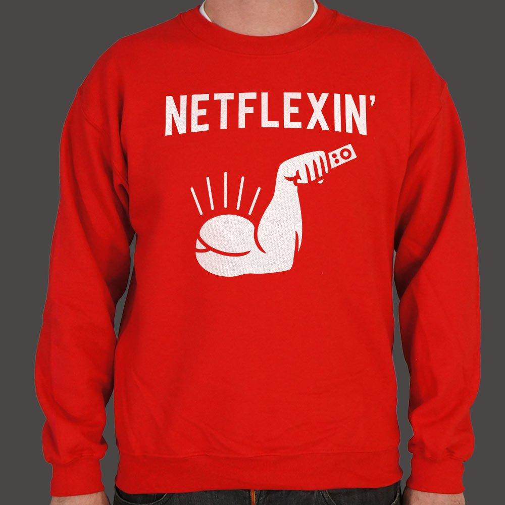 Netflexin' Sweater (Mens) Sweatshirt US Drop Ship Small Red