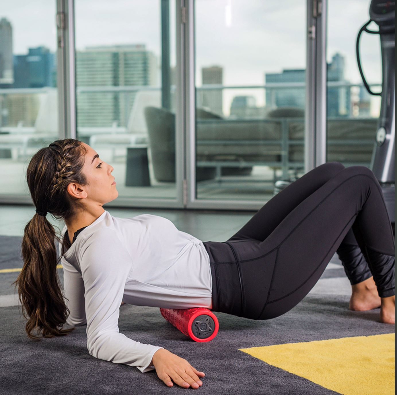 4-Speed Vibrating Yoga and Muscle Foam Roller
