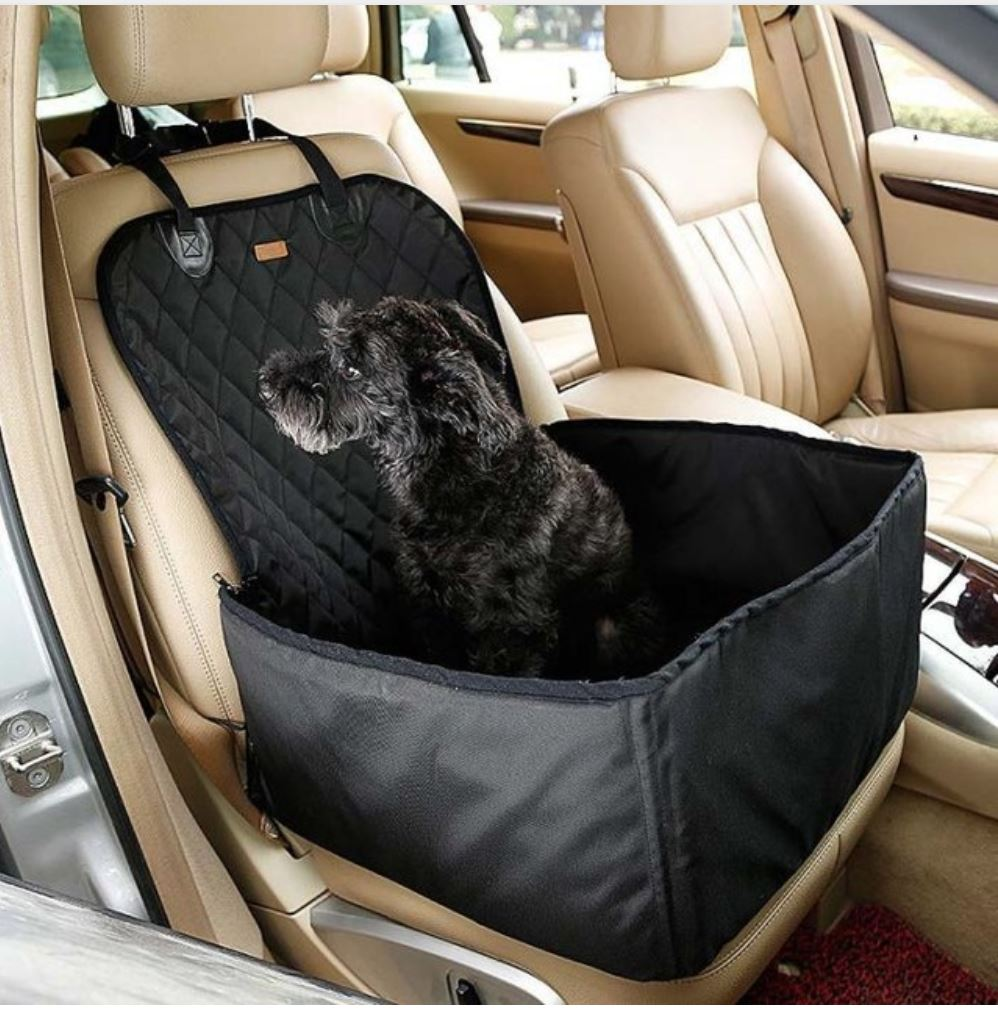 Waterproof Dog Booster Seat and Seat Cover Pet Accessories Urban Pronto Black