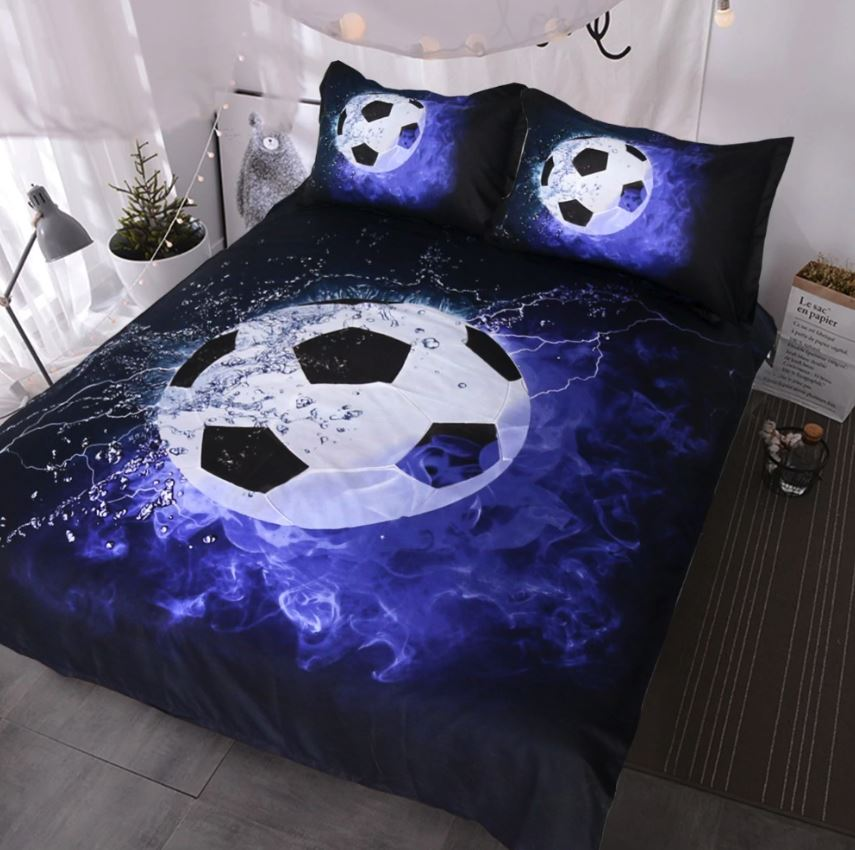 3D Sports Themed Bedding Set Urban Pronto Soccer AU Double 180x210cm