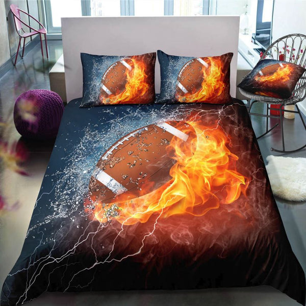 3D Sports Themed Bedding Set Urban Pronto Football AU Double 180x210cm