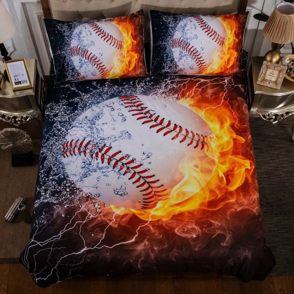 3D Sports Themed Bedding Set Urban Pronto Baseball AU Double 180x210cm