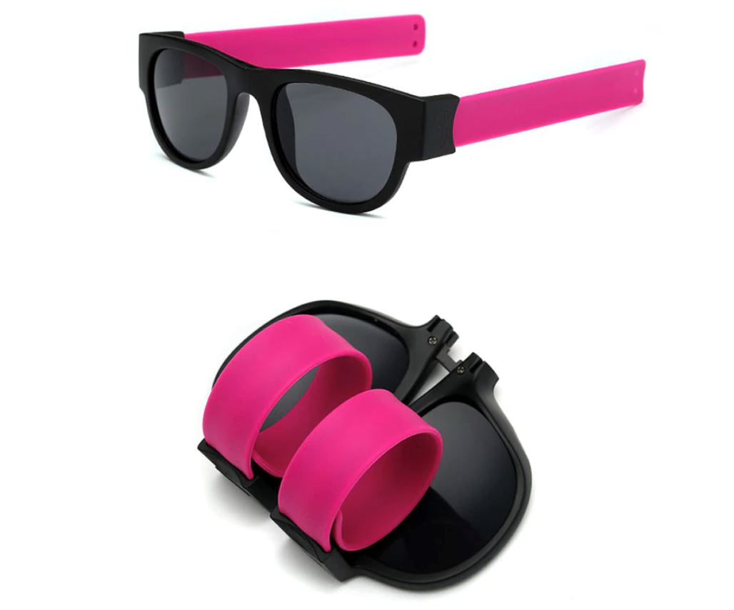 Polarized Slappable Bracelet Sun Glasses Urban Pronto Non Polarized Grey Pink