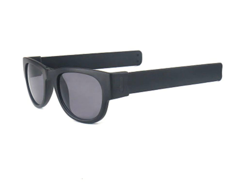Polarized Slappable Bracelet Sun Glasses Urban Pronto Non Polarized Grey Black