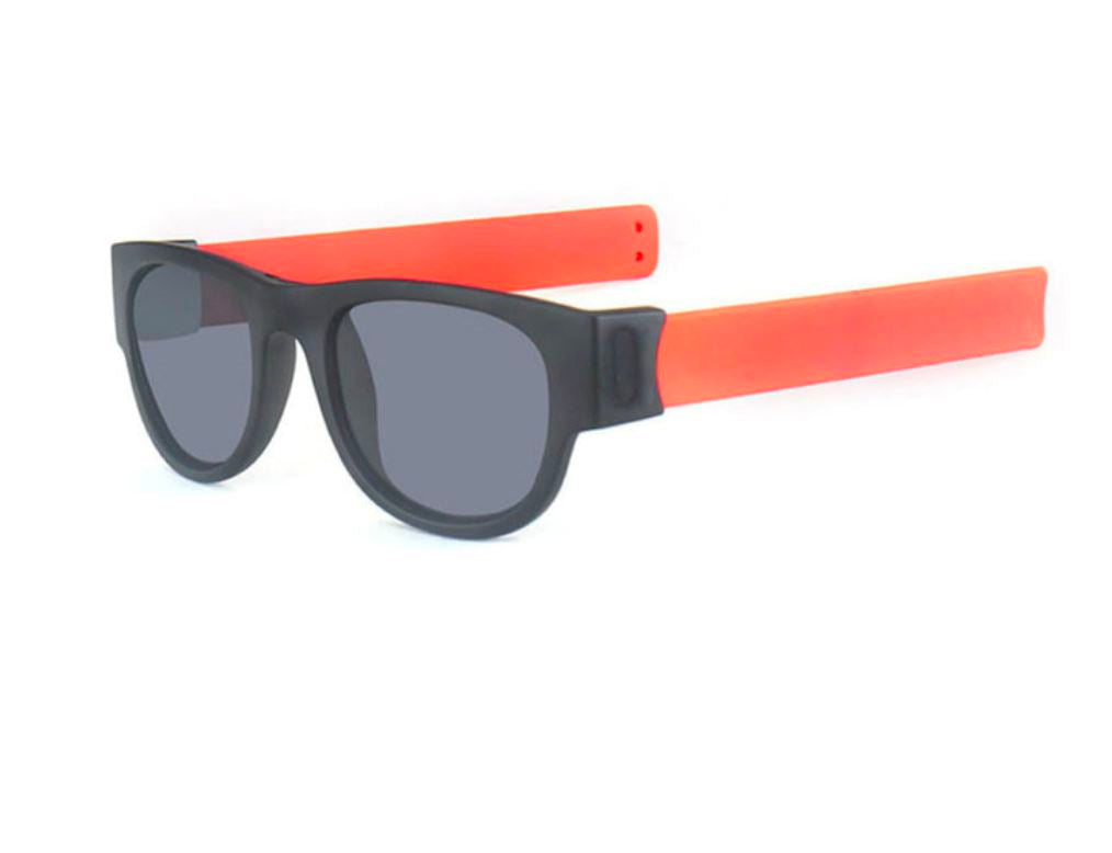 Polarized Slappable Bracelet Sun Glasses Urban Pronto Non Polarized Grey Orange