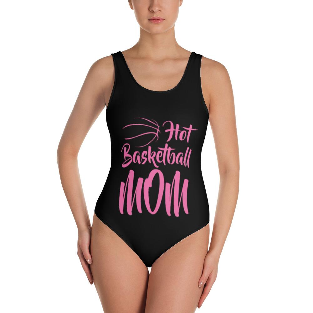 Hot Basketball Mom One-Piece Swimsuit