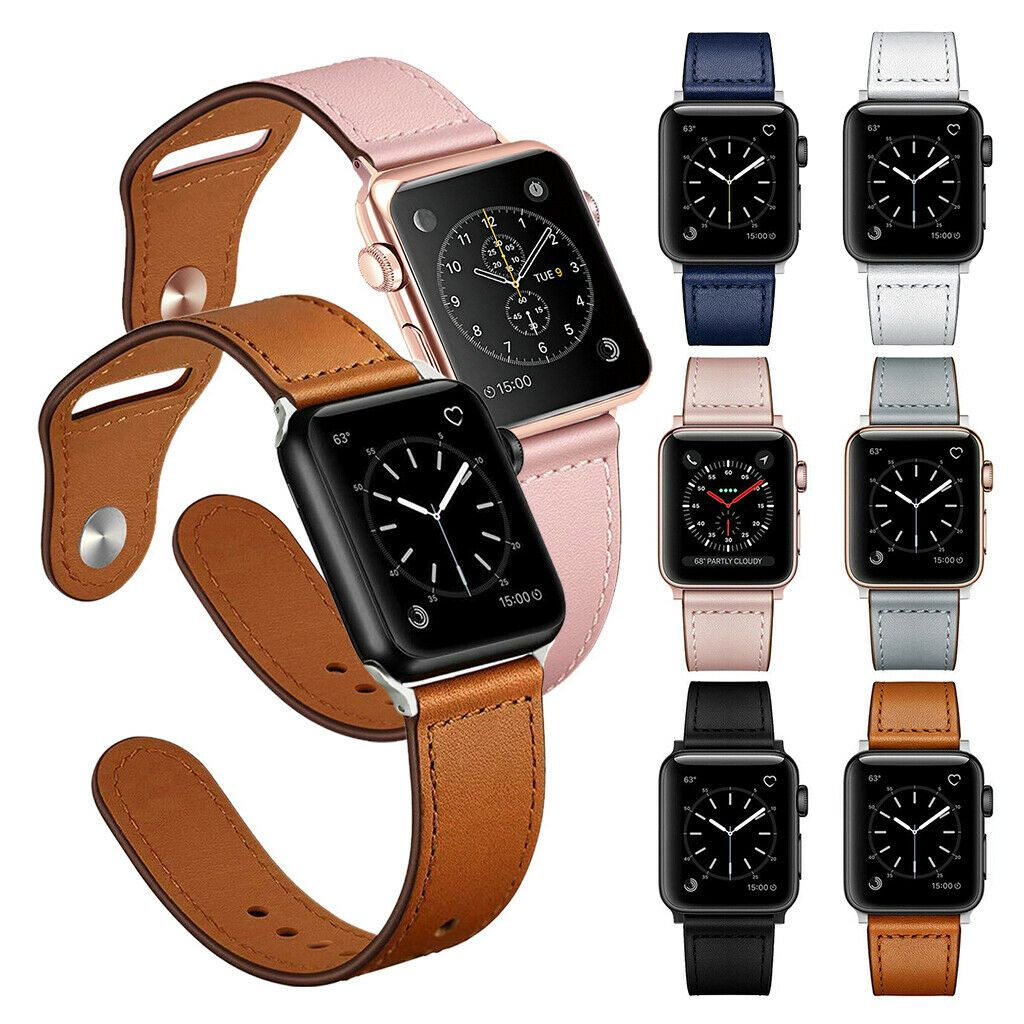 Genuine Leather Band Strap for Apple Watch Series 6 5 4 3 2 1 40/44/38/42mm