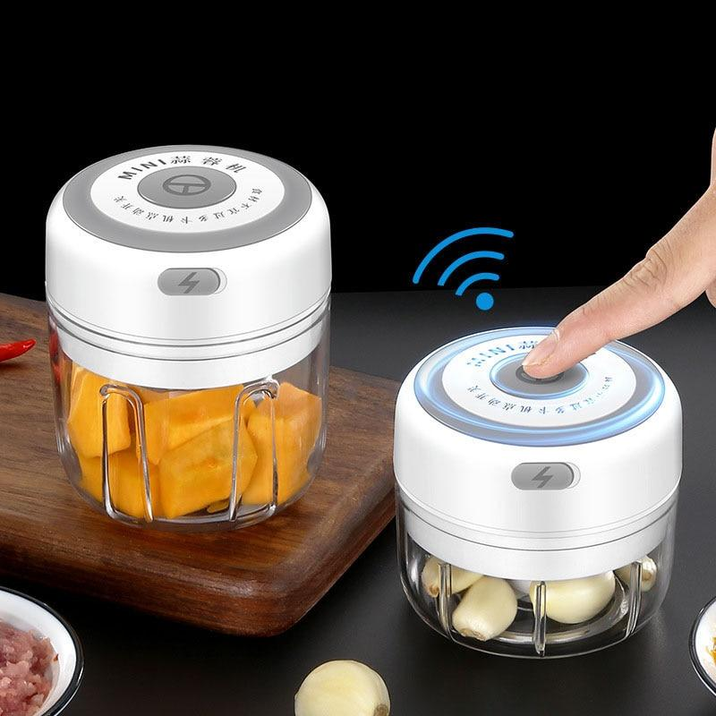 100/250ml Mini USB Wireless Electric Garlic Masher Press Mincer Vegetable Chili Meat Grinder Food Chopper