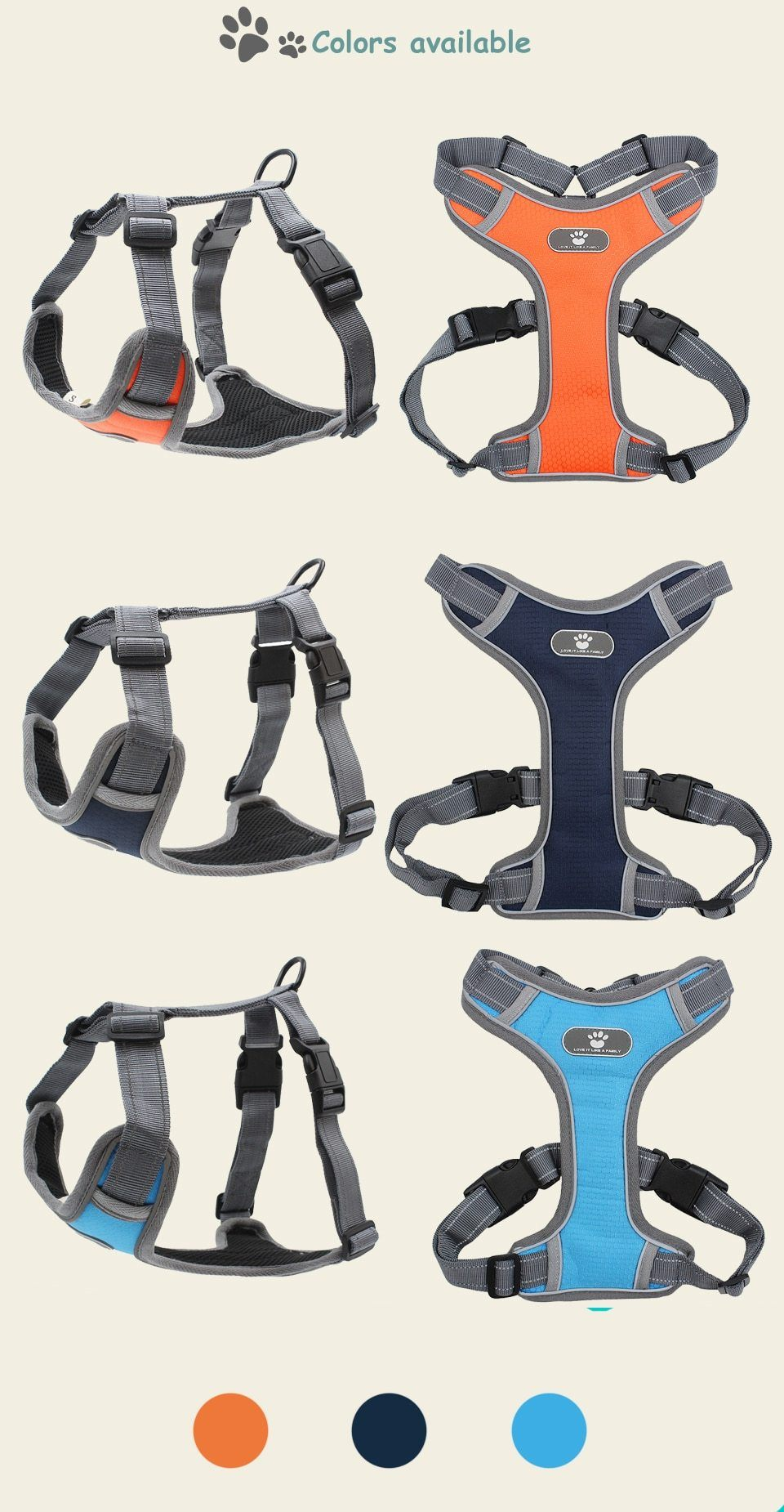 Reflective Breathable Mesh Dog Harness Vest Urban Pronto