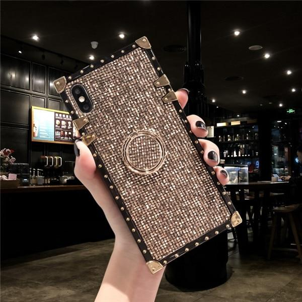 Metal Stand Phone Case For iPhone 11 Pro MAX 6 6S 7 8 Plus XS MAX XR X And For Samsung S8 S9 S10e Plus Note 8 9 10 Pro Urban Pronto for samsung S9 Local gold ring