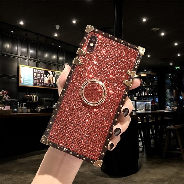 Metal Stand Phone Case For iPhone 11 Pro MAX 6 6S 7 8 Plus XS MAX XR X And For Samsung S8 S9 S10e Plus Note 8 9 10 Pro Urban Pronto for samsung Note 8 red ring