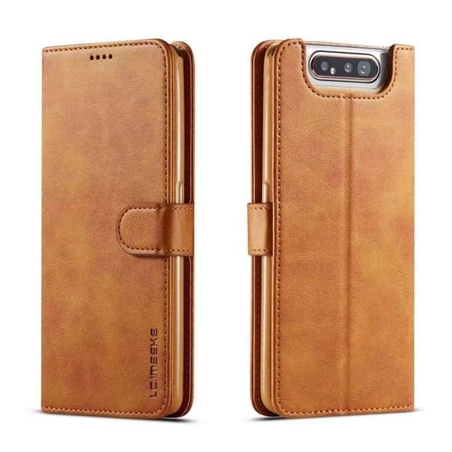 Leather Flip Case For Samsung Galaxy A80 and A90