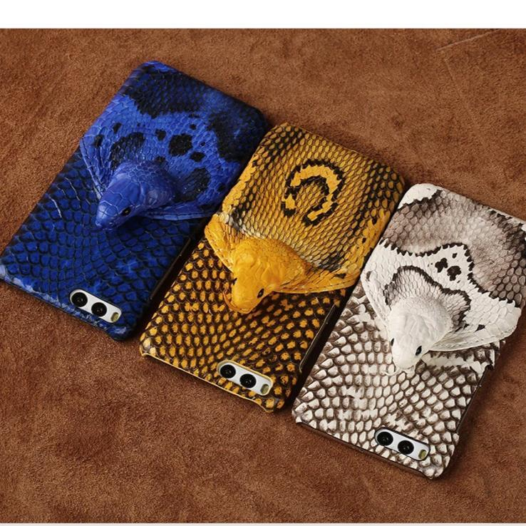 Genuine Leather Snakeskins Phone Case For Samsung Galaxy and Note