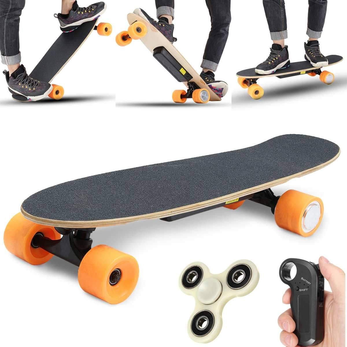 Electric Longboard Skate with Wireless Remote Control