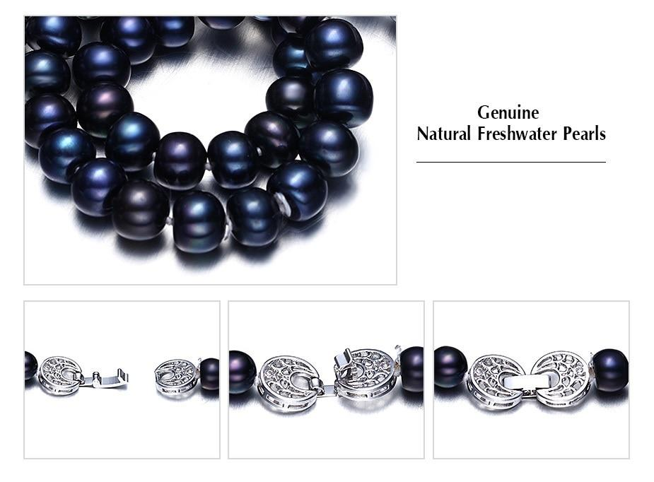 Natural Black Freshwater Pearl Necklace Urban Pronto
