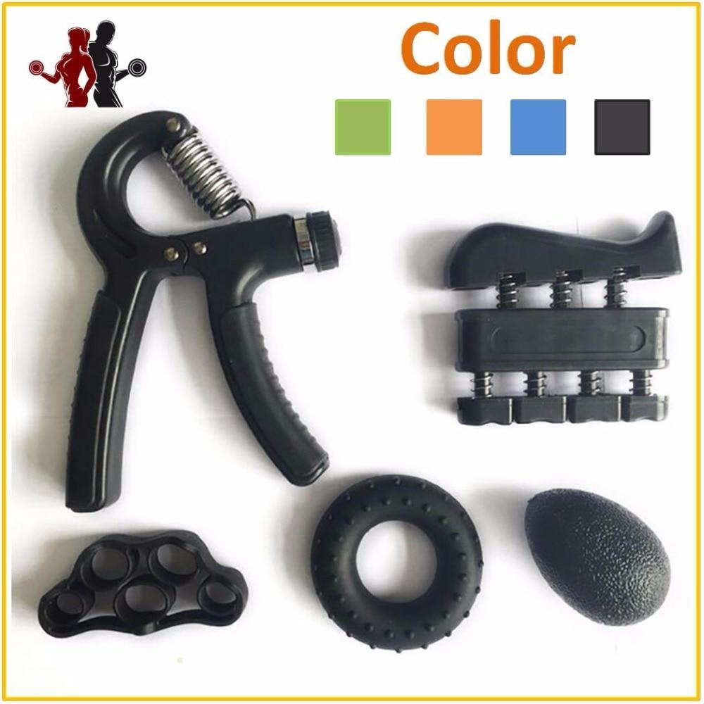 5 Pieces Adjustable Hand Grip Forearm Trainer Set